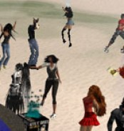 Virtual Live Band Rocks Second Life